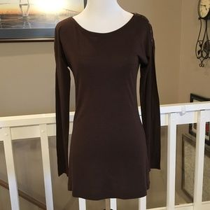 NWT Vince brown lightweight tunic top Size XS